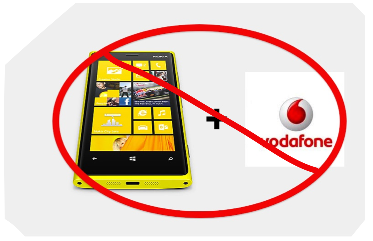 Lumia and Vodafone? NO.