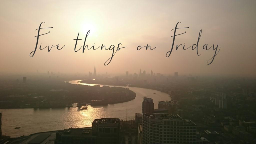 Five things, yo