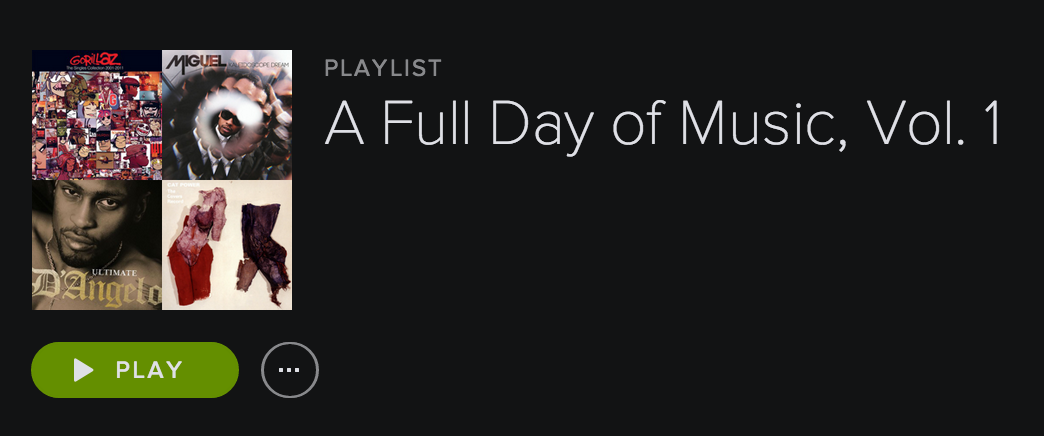 A Full Day of Music, Vol I