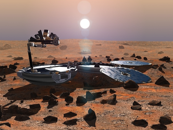 Beagle 2 landing craft disappeared on Christmas Day. Space. Mars